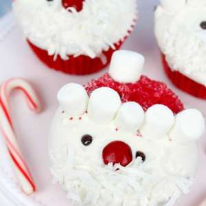 funky father christmas Cupcakes