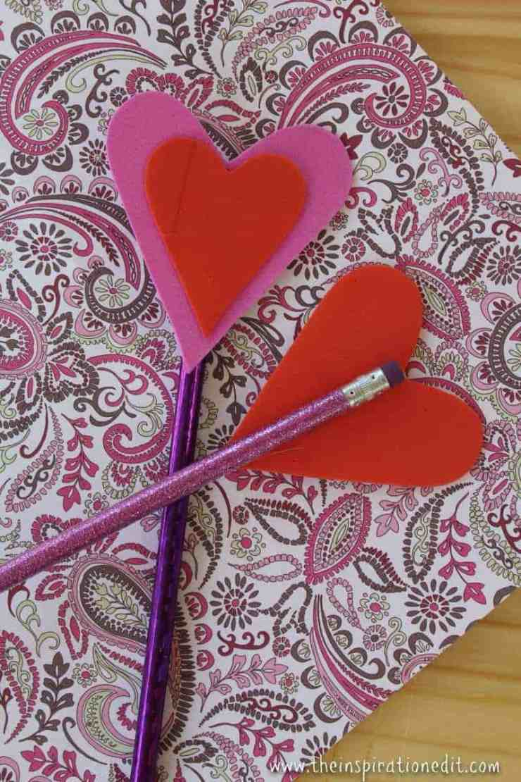 IMG 2818 800x1200 - Heart Pencil Toppers Valentines Craft For Kids