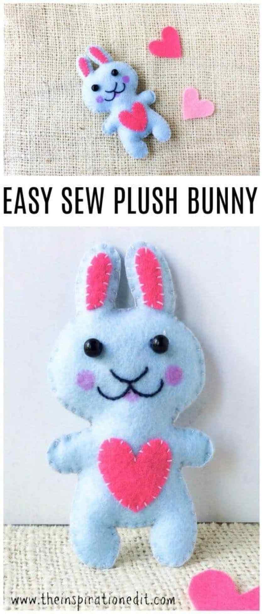 easy sew plush bunny