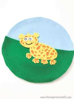 Leopard Paper Plate Craft