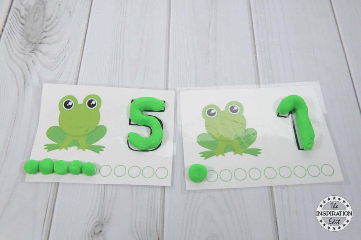 Fantastic Frog Counting Mats With Free Printable The