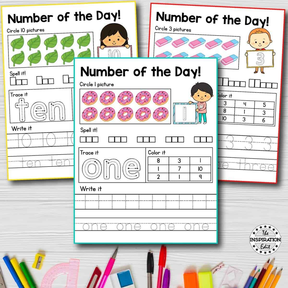 Fantastic Number Of The Day Preschool Worksheets The