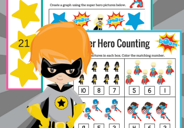 Super Hero Counting Sheets