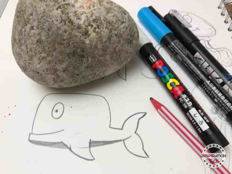 whale rock painting craft