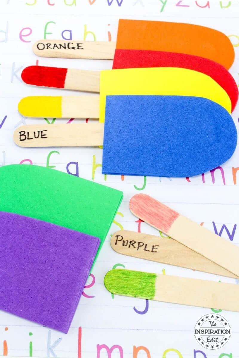 Colour Matching Popsicle Craft