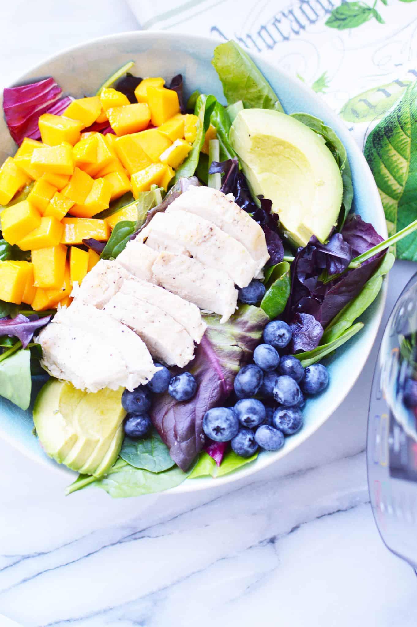 weight watchers chicken mango salad
