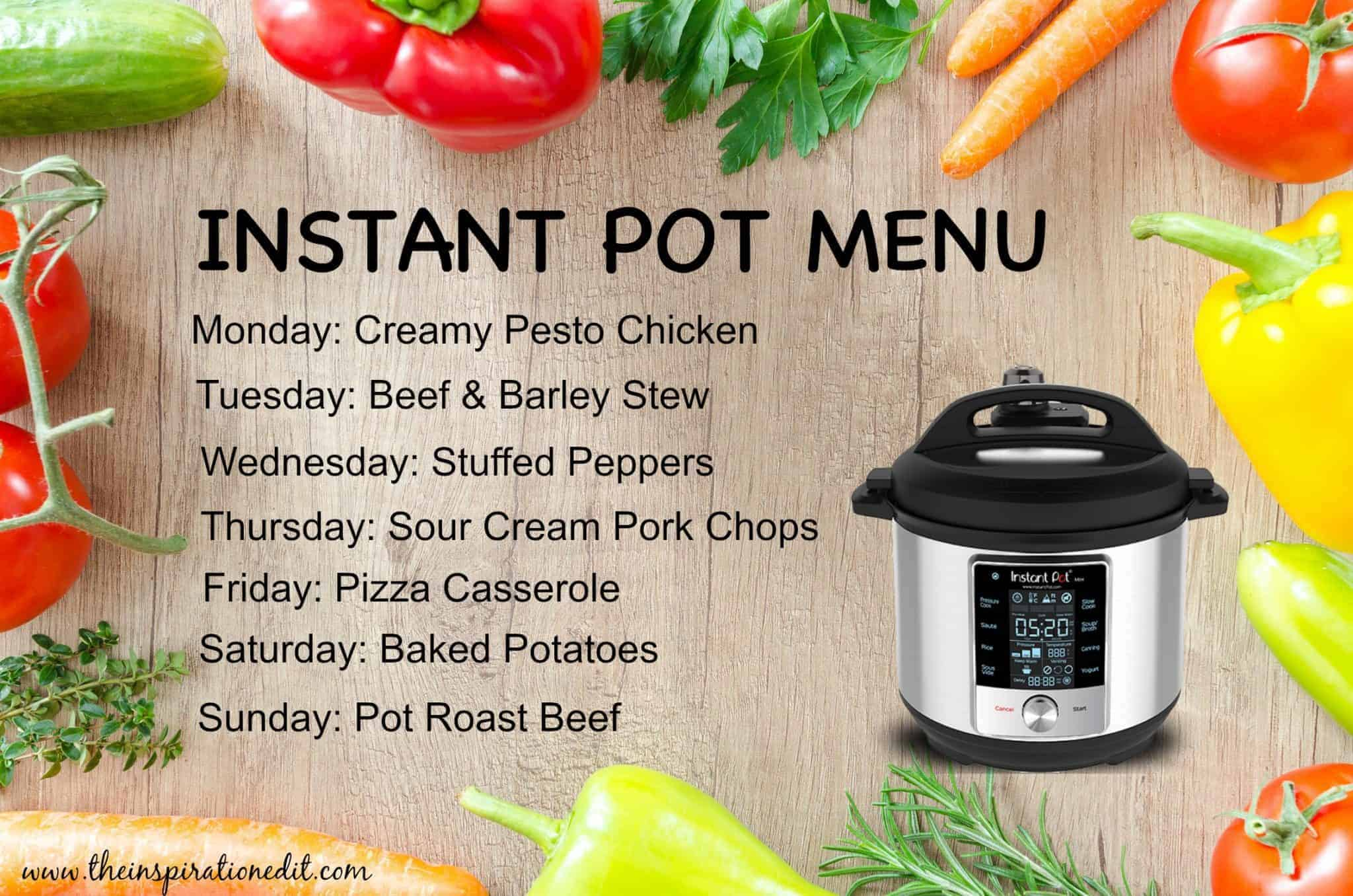 instant pot menu plan