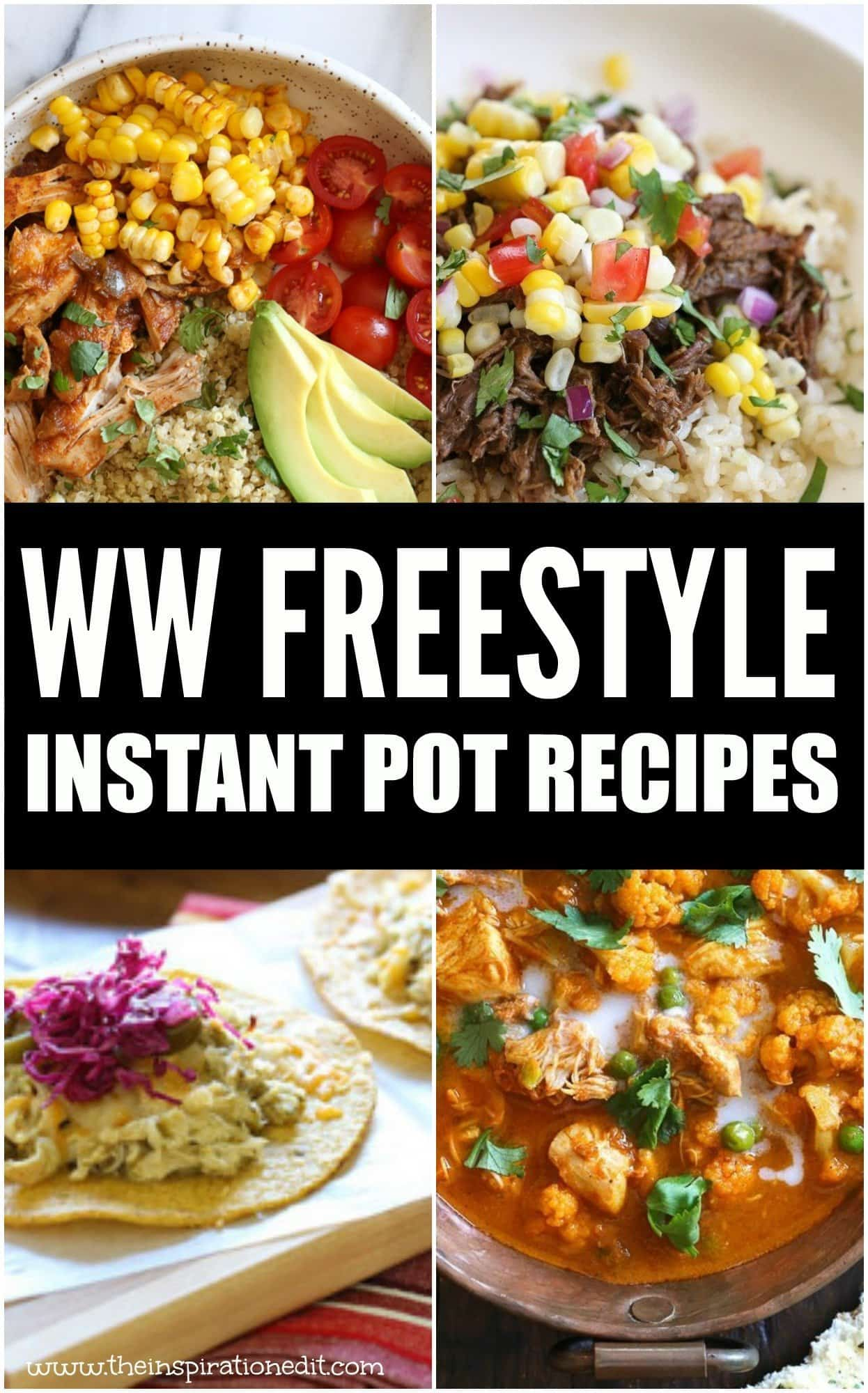 ww freestyle instant pot recipes