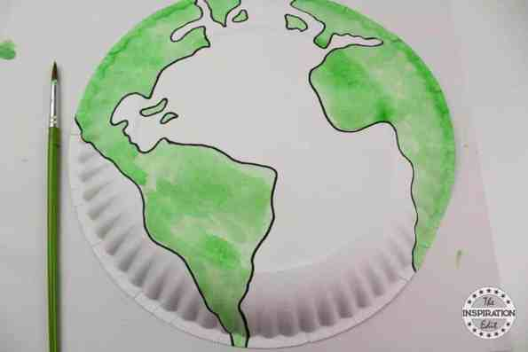 earth paper plate craft