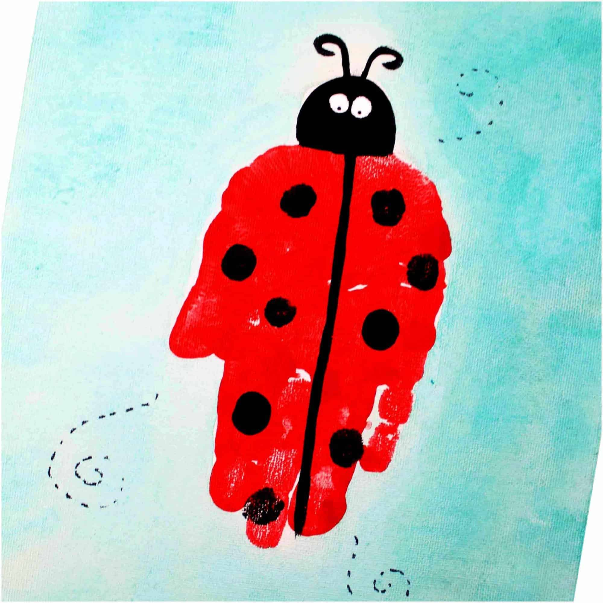 Ladybug Handprint Art For Preschool Kids The Inspiration