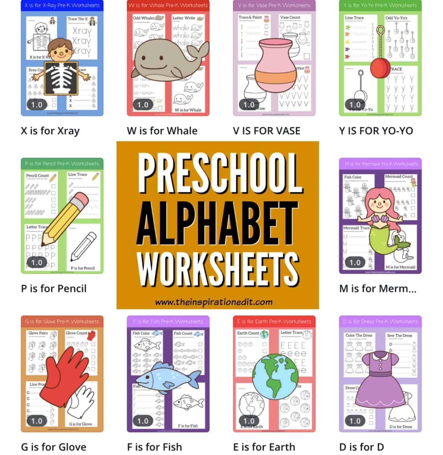 Free Alphabet Worksheets For Preschoolers The