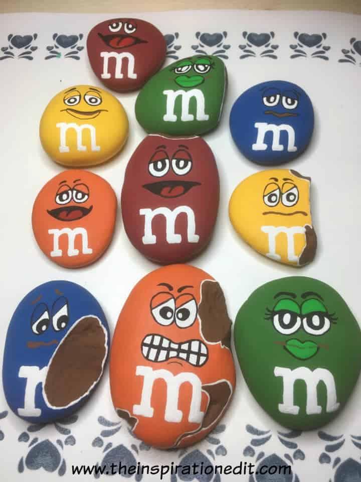 mnm6 - M&M Painted Rocks By Barbara Beal