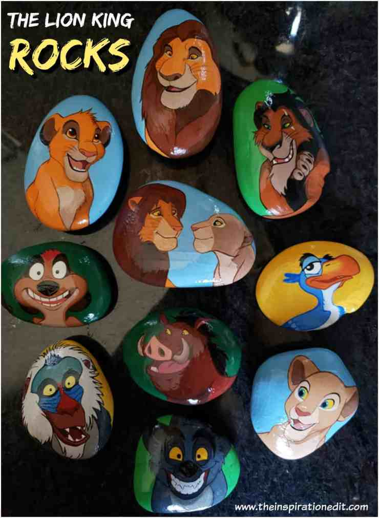 rocks - Lion King Painted Rock Stones By Carly S