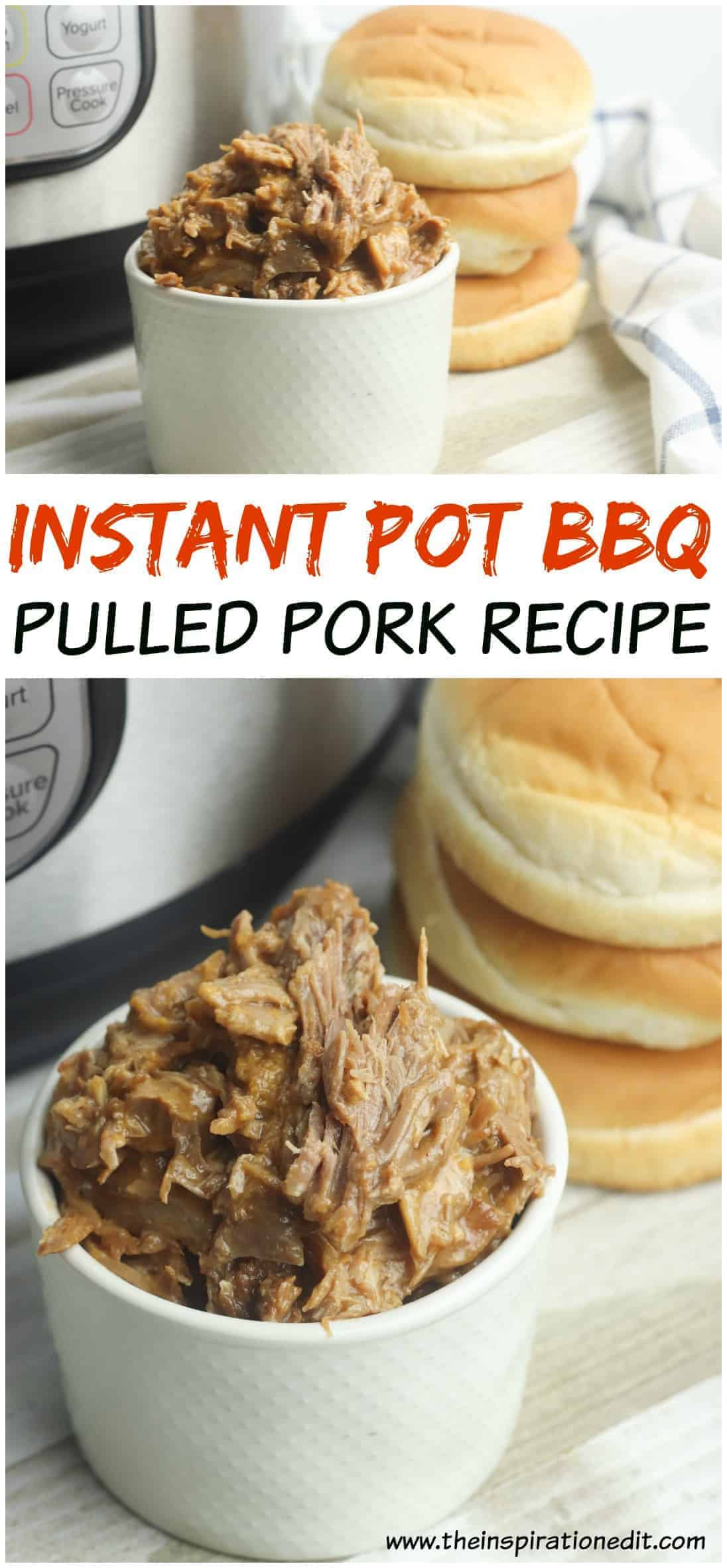 Grab this delicious and mouth watering Instant Pot BBQ Pulled Pork recipe!