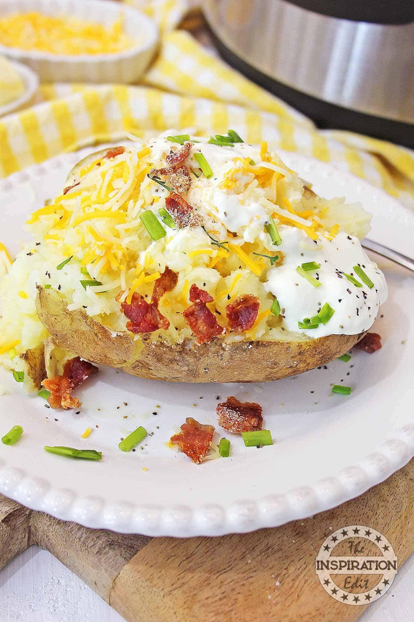 instant pot loaded baked potato