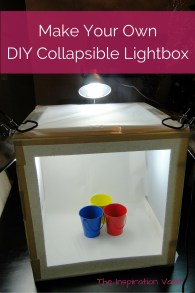 Make Your Own DIY Collapsible Lightbox