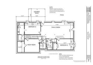 Engineered Drawings of Downstairs Renovation