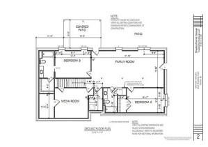 Engineered Drawings of Downstairs Renovation