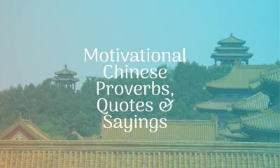 Motivational Chinese Proverbs Quotes Sayings