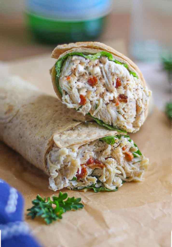 Instant-Pot-Caesar-Chicken-Wrap