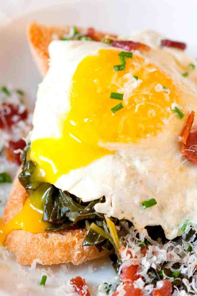 Instant-Pot-Braised-Kale-Bacon-and-Egg-on-Toast-Recipe