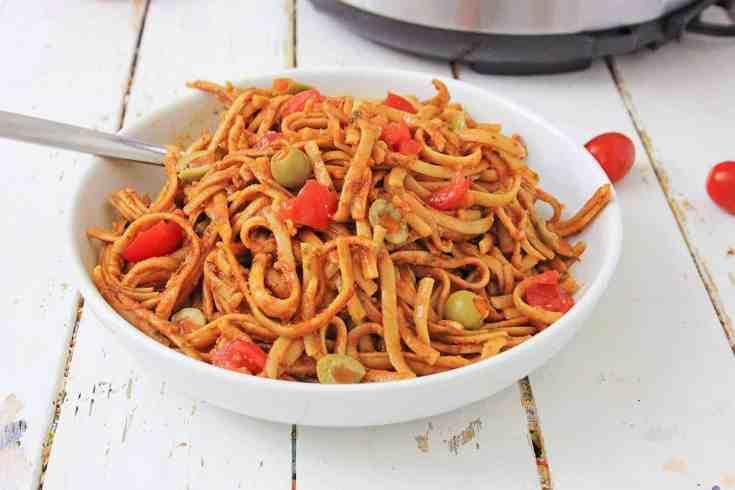 instant pot Puttanesca pasta