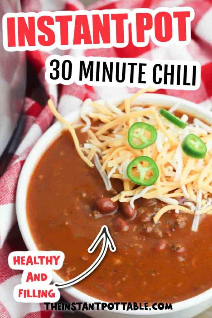 30 minute instant pot chili