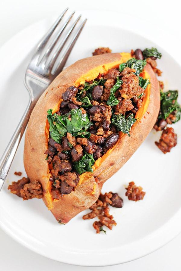 Instant-Pot-Chorizo-and-Kale-Stuffed-Sweet-Potatoes-Recipe
