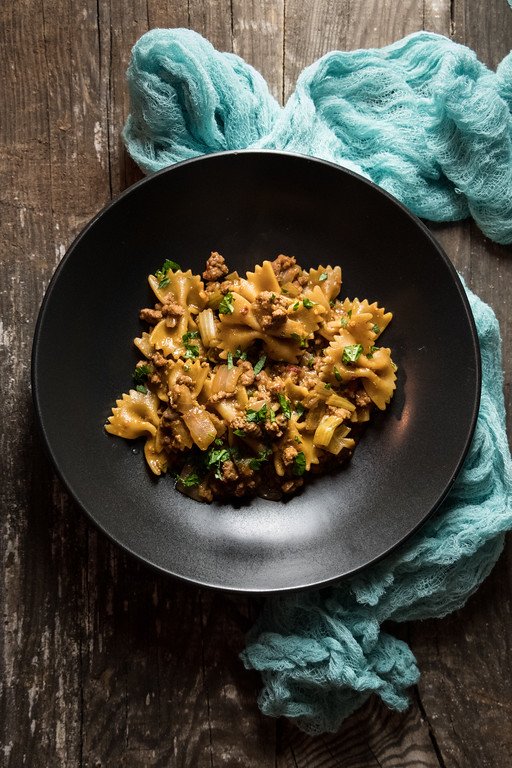 Instant-Pot-Ground-Pork-and-pasta