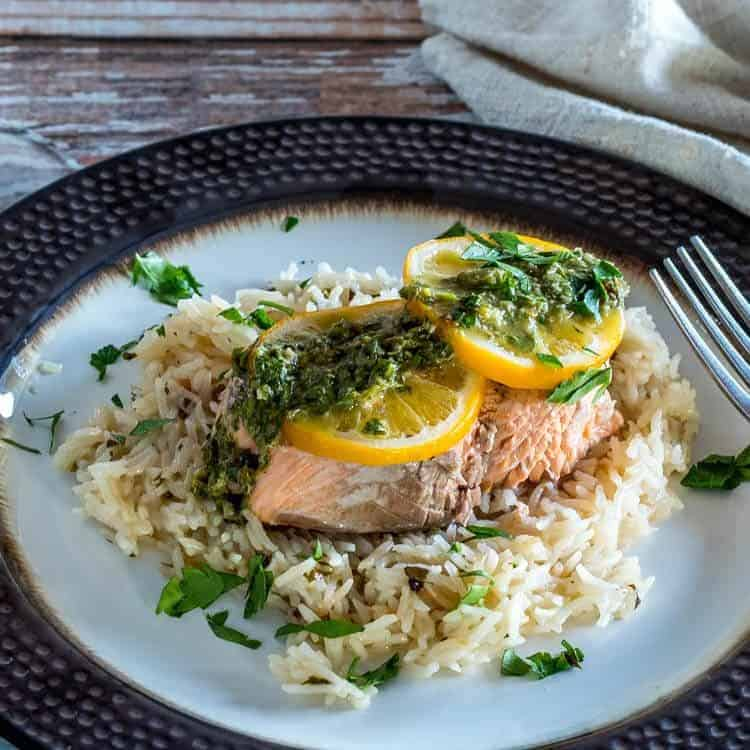 Instant-Pot-Salmon-and-Rice