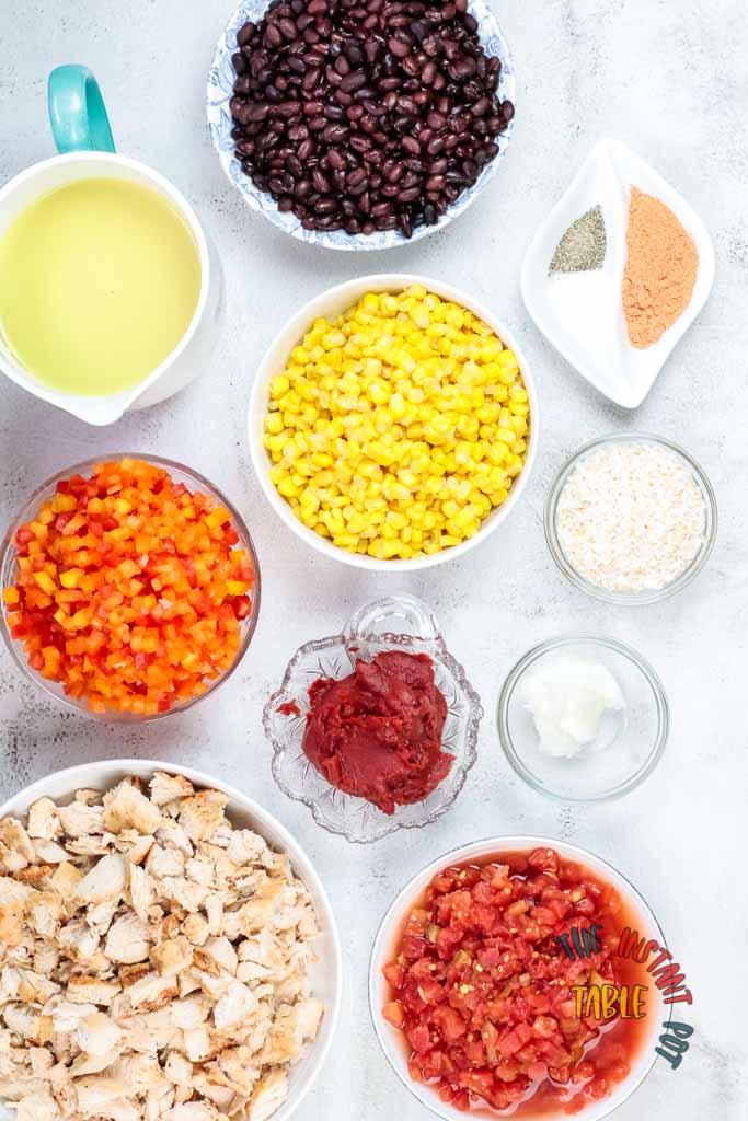 Instant_pot_Black Bean_Chicken_Chili_Ingredients_