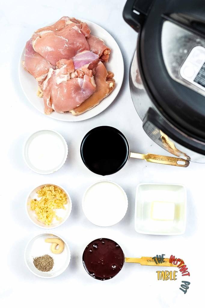 Instant Pot Teriyaki Chicken Ingredients