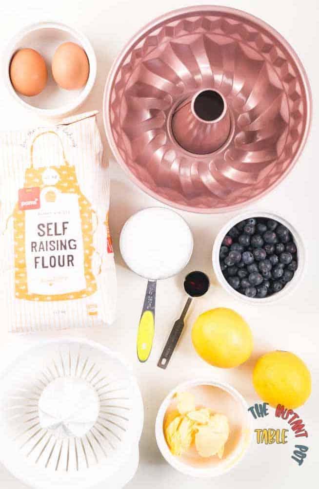 Lemon and Blueberry Cake Ingredients