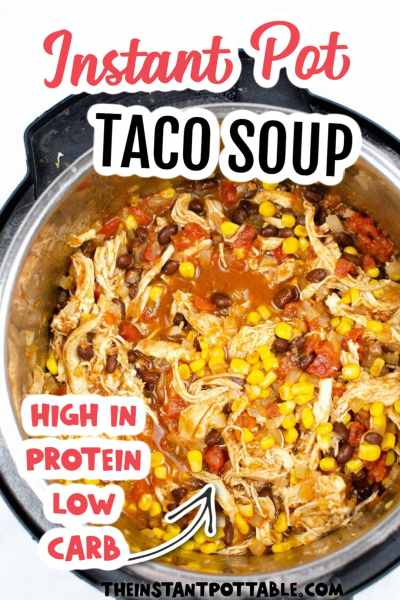 taco soup made in an instant pot