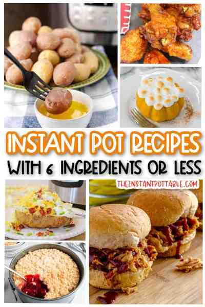6-ingredients or less in the instant pot