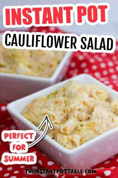 INSTANT POT cauliflower salad