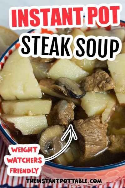 instant pot steak soup