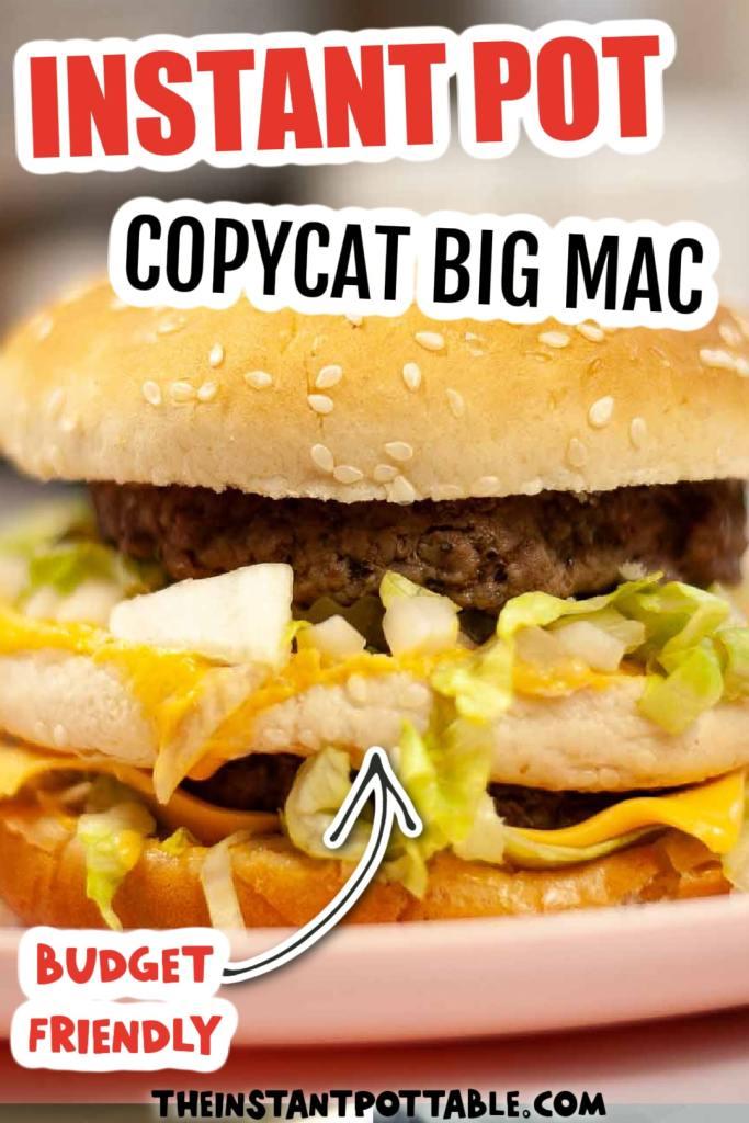 homemade big mac on a plate