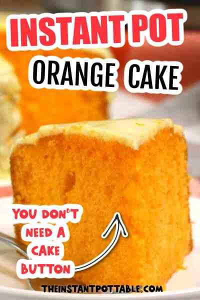 instant pot orange cake