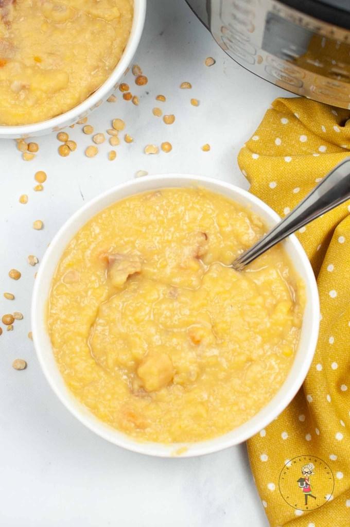 Instant Pot Split Pea Soup w/ Ham
