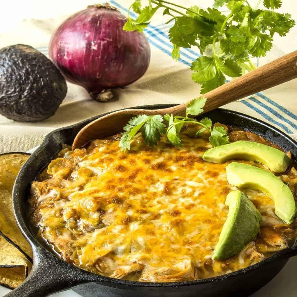 Instant-Pot-Chicken-Enchilada-Casserole