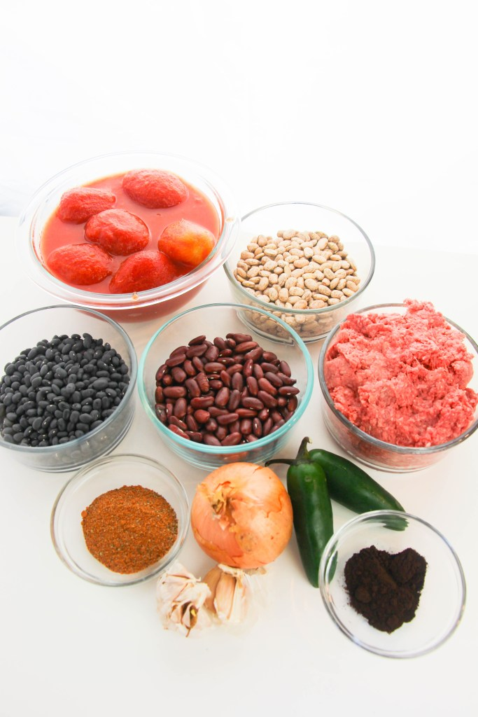 instant pot chili beans ingredients
