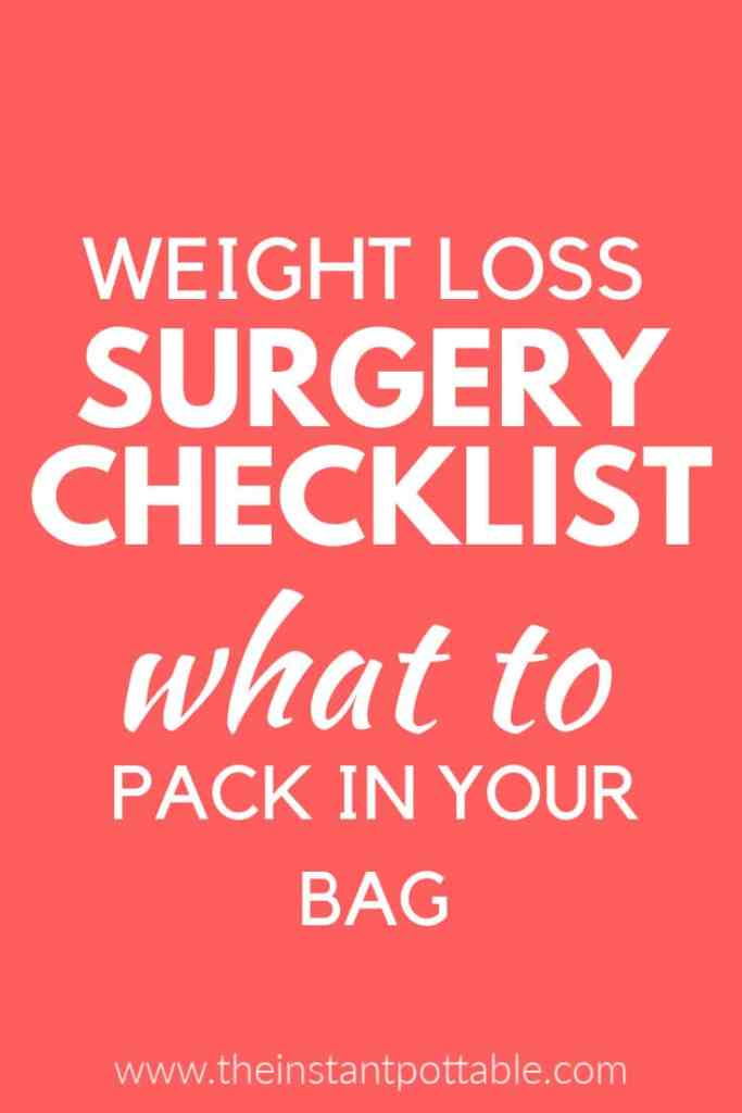 what to pack for surgery