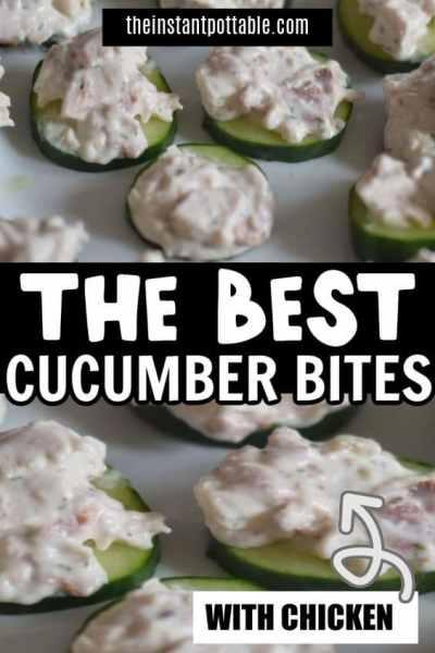 chicken cucumber bites