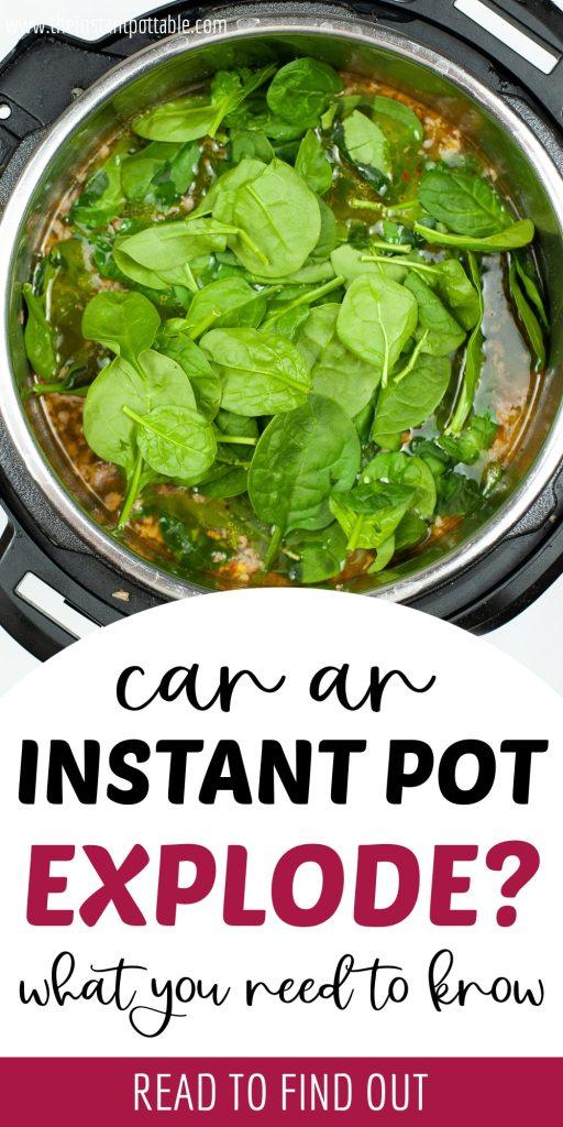 can an instant pot explode?