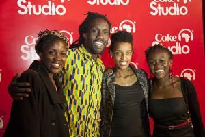 from left Coke Studio Band members Masala Sefu, Obuya Owino, Bernaddette Muthoni and Yvette Atieno