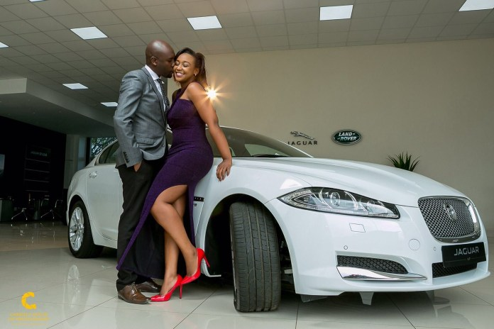 Dennis Okari and Betty Kyalo on their big day