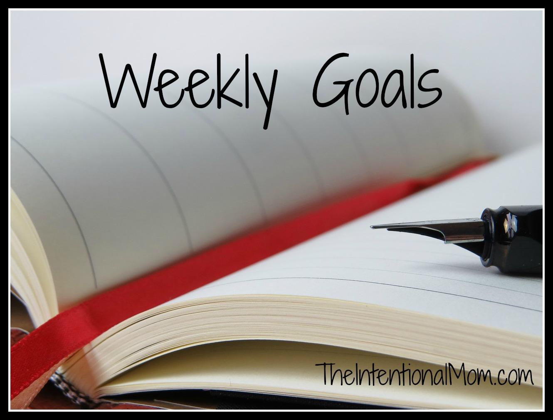 Weekly Goals 3 1 16
