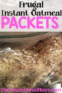 Recipe: Instant Oatmeal Packets