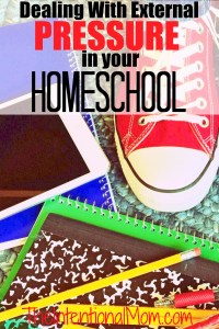 Dealing With External Pressure in Your Homeschool